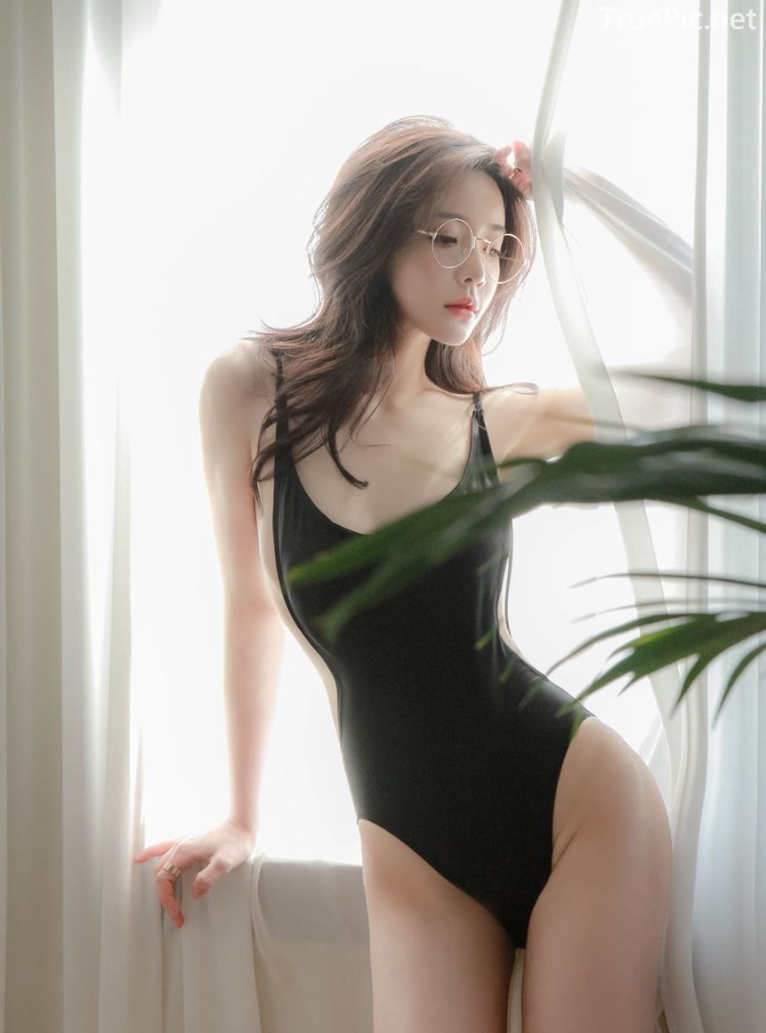 Korean model and fashion - Yoo Gyeong - Black Red White Lingerie