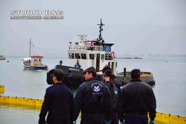 Θαλάσσια ρύπανση από δεξαμενόπλοιο στην Καλαμάτα