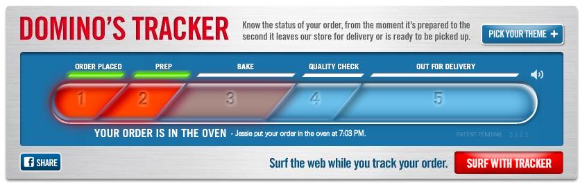 Trail Hacker: Ordering Domino's Pizza Online