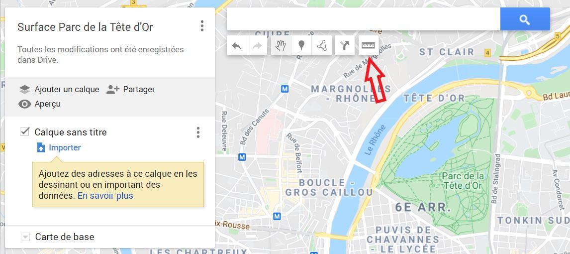 Comment calculer une surface avec Googlemymap ?