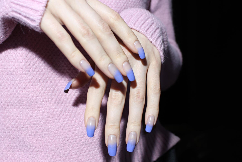 pretty spring nail design, close up