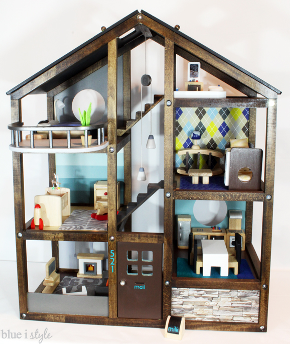Cusomize an off-the-shelf wood Hape Dollhouse