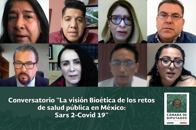 """Organizan conversatorio sobre """"La Visión Bioética de los Retos de Salud Pública en México: SARS-CoV-2"""""""