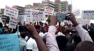 Niger Delta Youths Shut Down Abuja In Support For Buhari