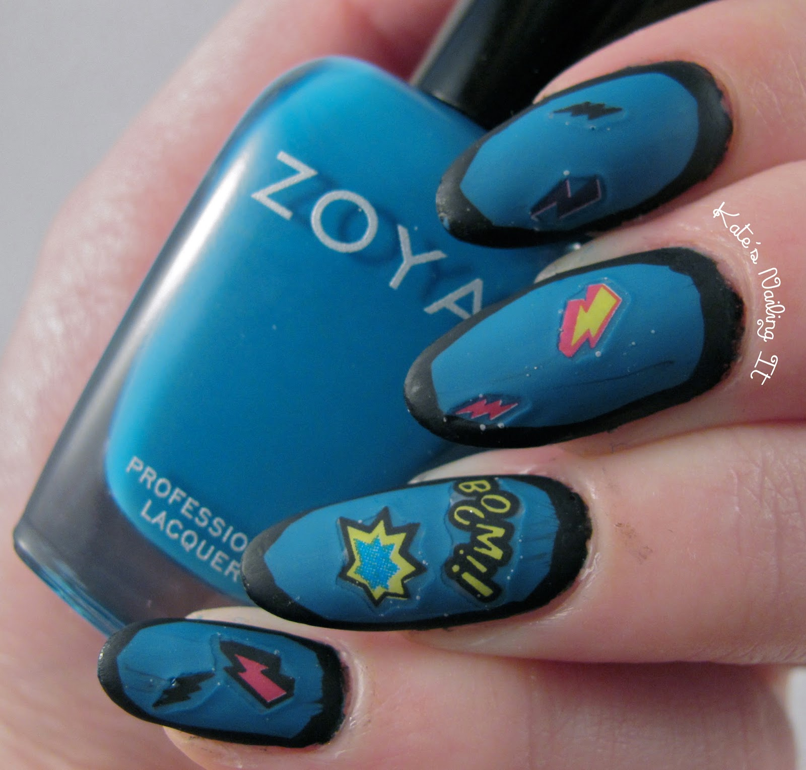 Kate\'s Nailing It: Comic book nail art
