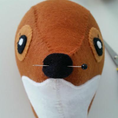 Faux Taxidermy Fox stitch-a-long: Part 4