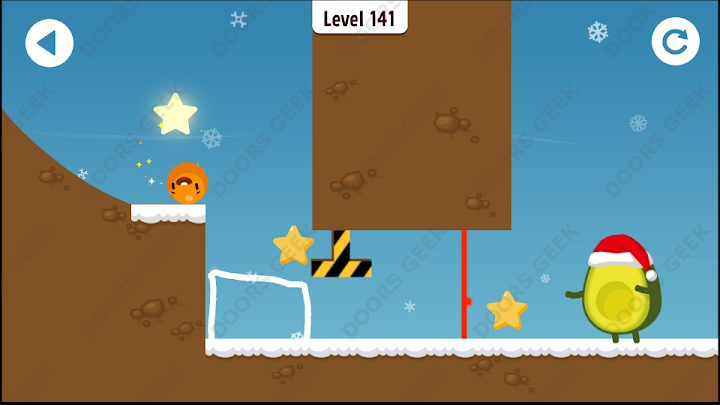 Where's My Avocado? Level 141 Solution, Cheats, Walkthrough, 3 Stars for Android, iPhone, iPad and iPod