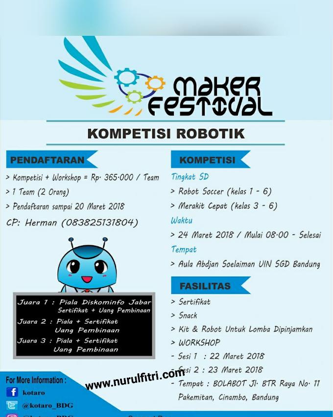 Kompetisi Robotik di Acara Maker Festival UIN SGD Bandung