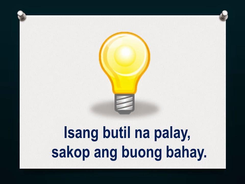 Bugtong Tagalog Examples
