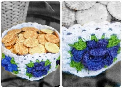 Cesto para Galletas de Crochet Patron