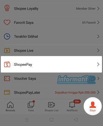 Isi Saldo ShopeePay Via BCA Mobile - Pilih ShopeePay