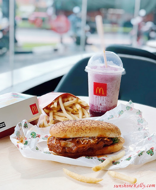 McDonald's, McDonald's Malaysia, Portuguese Chicken Burger, McD, Dinosaur McFlurry, Fanta Grape McFreeze, Food, McDonald's, Burger, New Burger