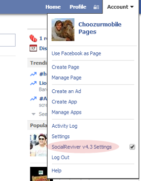 SocialReviver Add ON