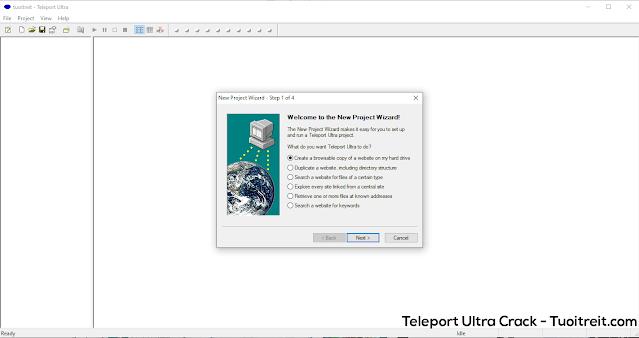 Teleport Ultra Pro Full Crack - Phần mềm tải toàn bộ website nhanh nhất hiện nay