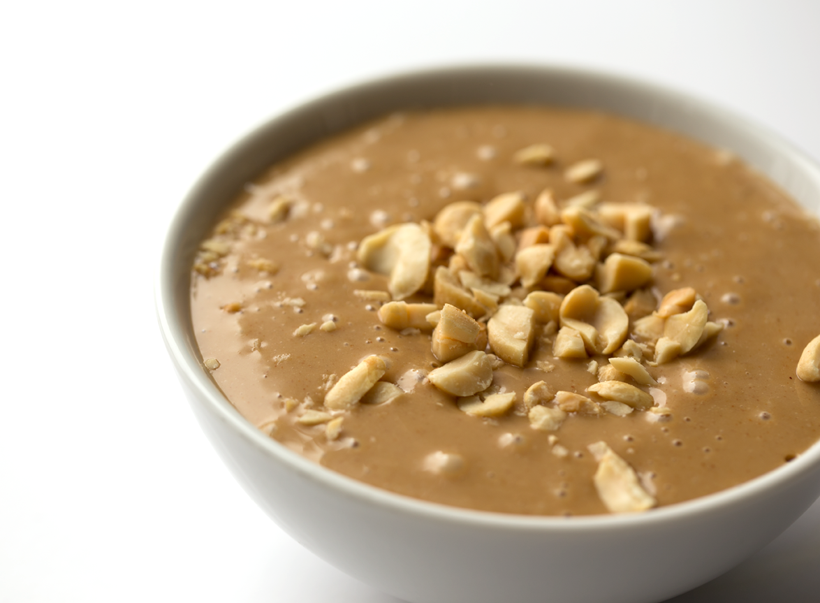 creamy peanut sauce in bowl