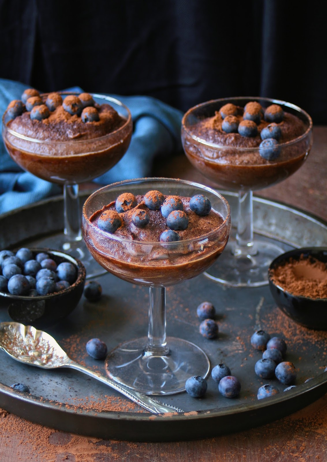 Sugar free gluten free chocolate mousse.