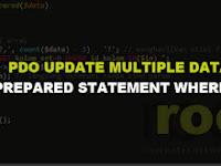 Tutorial PHP : PDO Prepared Statement Update Multiple Data Dengan Where IN