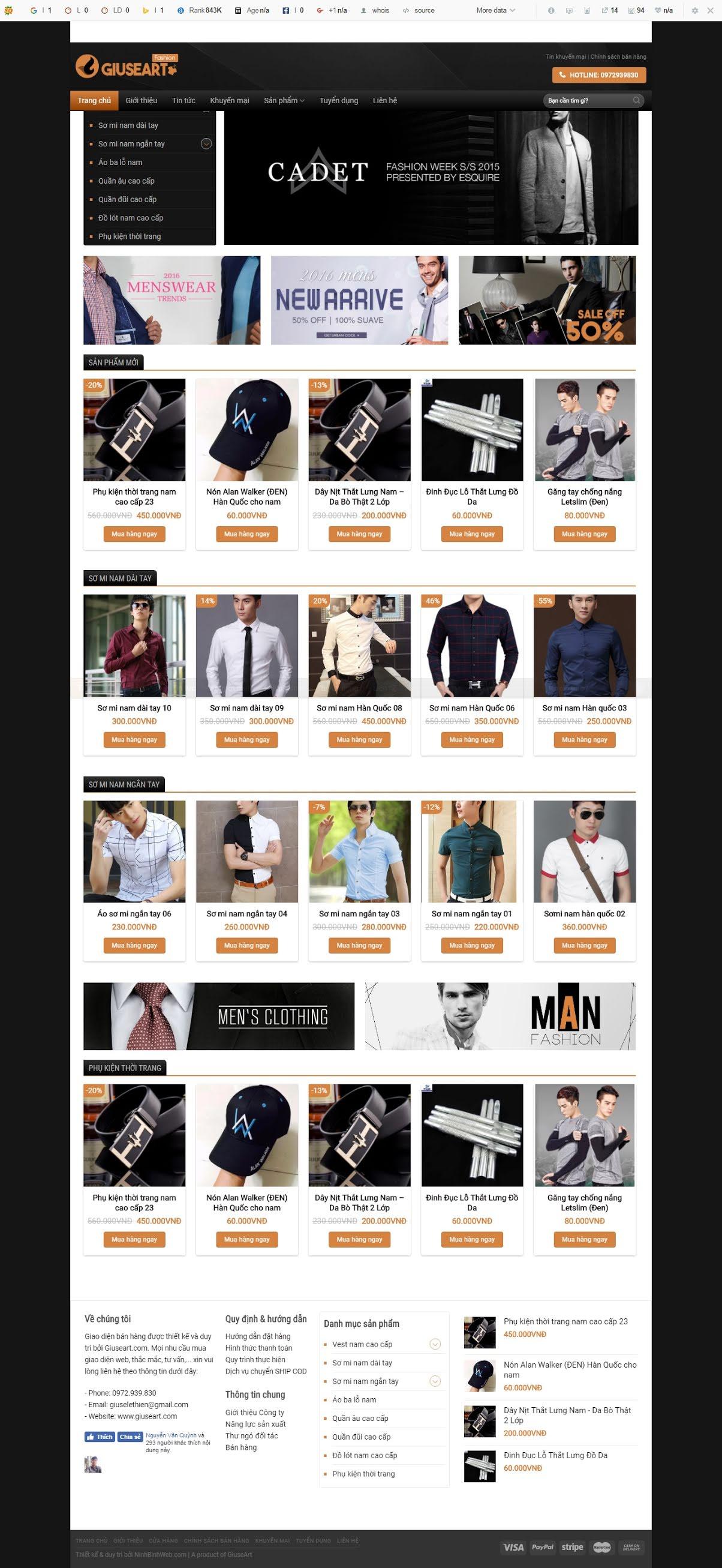 BÁN HÀNG 084 - Thời trang nam