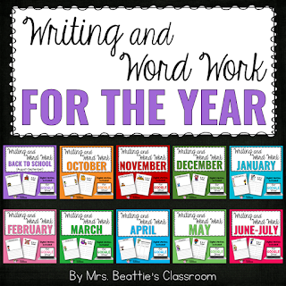 Writing and Word Work for the Year Bundle