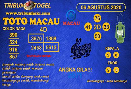 Prediksi Tribun Togel Macau Kamis 06 Agustus 2020