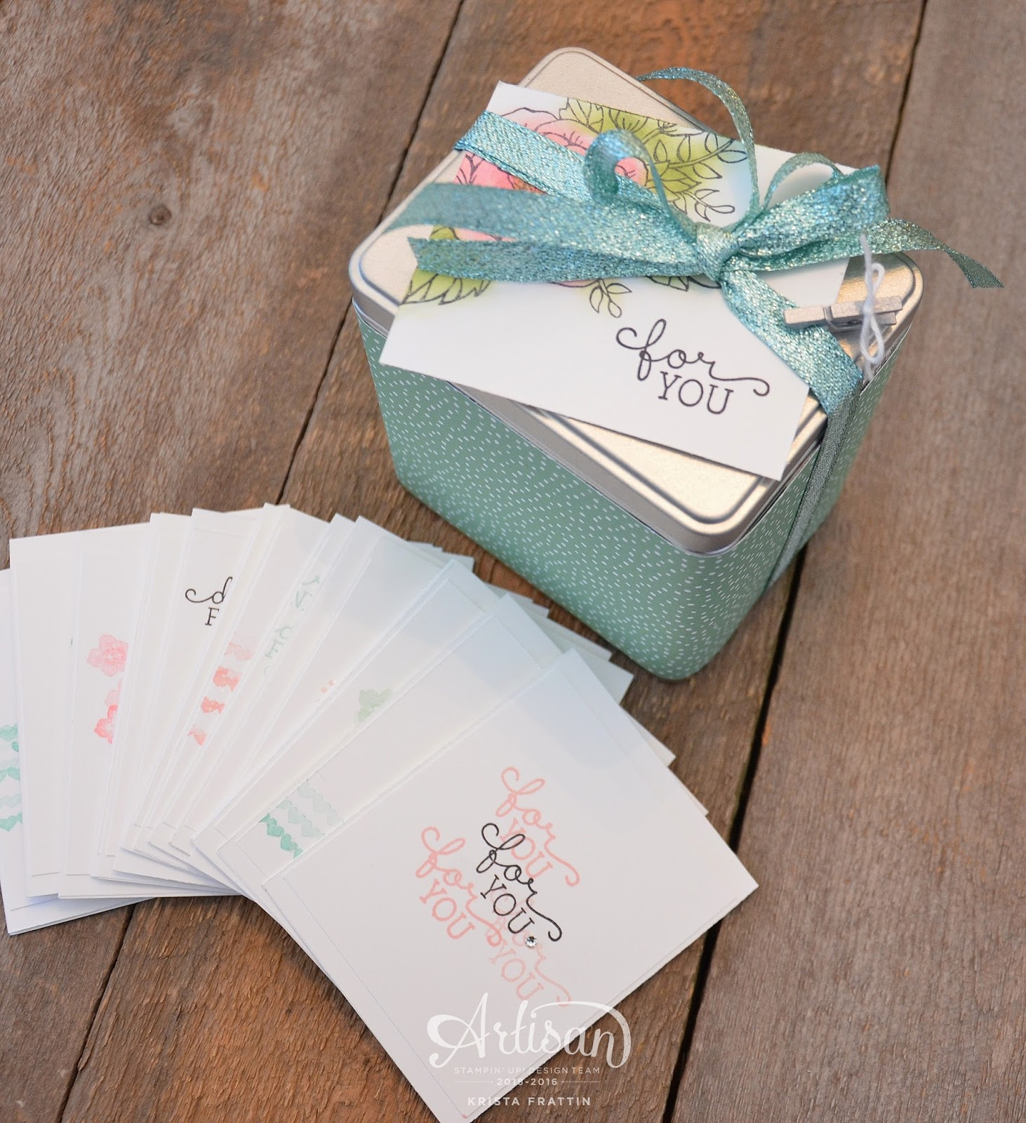 stampin dolce tea tin of cards artisan design team blog hop