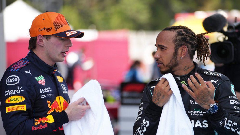A tensão entre Verstappen e Hamilton está começando a aumentar