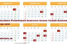 Kalender Pendidikan Semester Genap TA 2020-2021