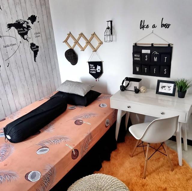 Furniture untuk Kamar Tidur Sempit Remaja Sederhana