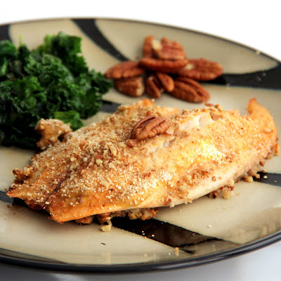 The Growing Foodie: Dorm Room Dinner:  Pecan-Crusted Tilapia