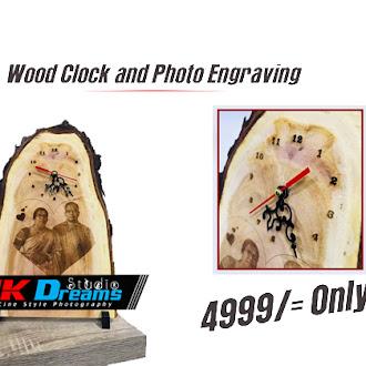 Wood Clock and Photo Engraving in Jaffna | Best Wood Engraving | High Quality Wood Engraving Work | JK Dreams