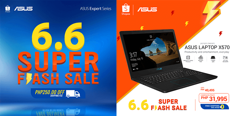 ASUS laptops get up to 30 percent off during Shopee 6.6 Super Sale