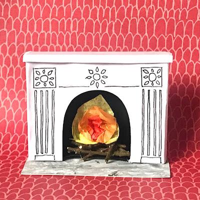 Shoebox fireplace