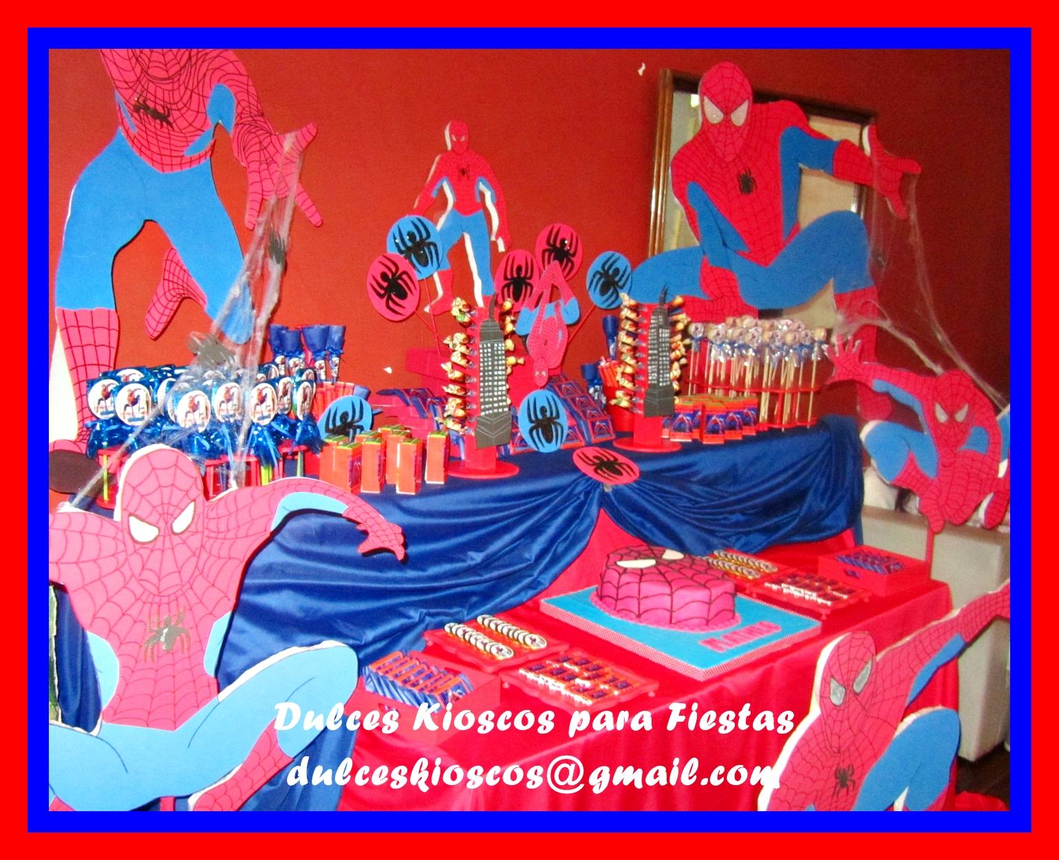 Dulces kioscos para fiestas tematica del hombre ara a for Cuartos decorados hombre arana