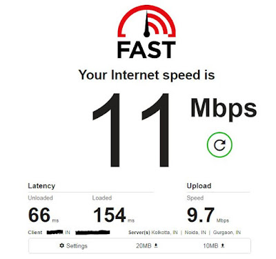 check Internet speed