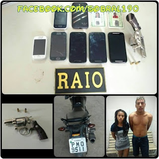 Integração das forças de segurança resultam em apreensão de um casal acusado de assaltos.