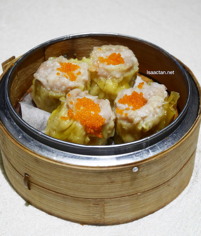 Steamed Siew Mai with Fish Roe