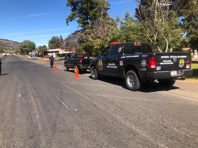 Detiene División Estatal de Caminos a uno en posesión de vehículo con reporte de robo, en Morelia