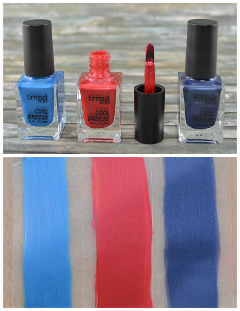 trend it up cool breeze LE nail polishes 010, 050 und 060 mit Swatches