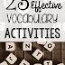 23 Effective Vocabulary Activities