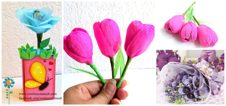 3 Tutoriales Para Aprender Como Hacer Flores Con Papel Cositasconmesh