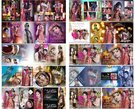 Wedding, Album, Design, PSD Free Download, 12×36 PSD Templates VOL -  15