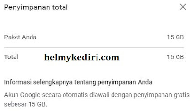 Kuota penyimpanan blogger limit