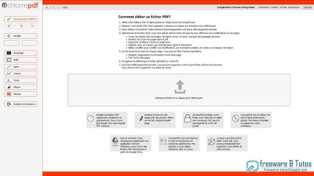 ChromePDF : un éditeur de fichiers PDF en ligne gratuit