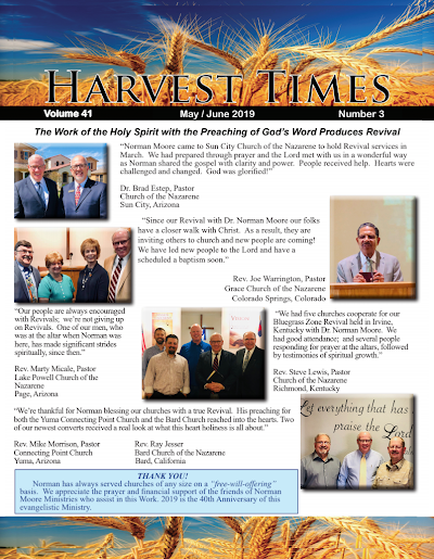 Harvest Times, Volume 41 Number 3, May - June 2019