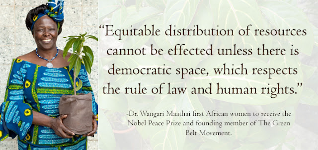 Kenya's Dr. Wangari Maathai was the first African women to receive the Nobel Peace Prize.