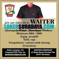 Info Loker Surabaya di Kartiko Heritage Terbaru Juni 2020