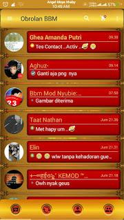 BBM Base Official 2.13.1.14 Romantic Gold v212 Apk Terbaru