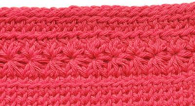 crochet flower border