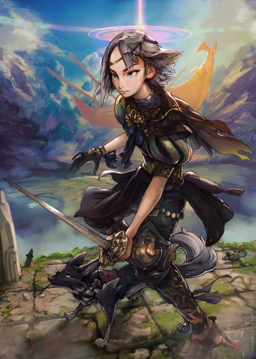 Max Berthelot artstation ilustrações design personagens fantasia sombria estilo japonês animes