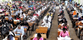 Students writing the JAMB UTME exam